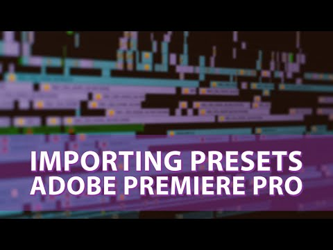 Importing Presets in