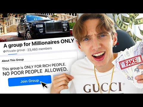 I tried to join facebook groups for millionaires ONLY