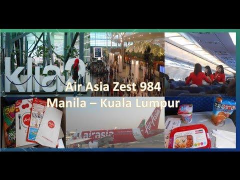 Air Asia Zest Z2 948 : Manila to Kuala Lumpur   The newest Airport, KLIA2