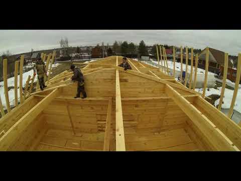 Строительство дома за 3 минуты!