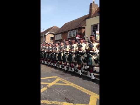 Argyll and Sutherland Highlanders 25th June 2013 Canterbury