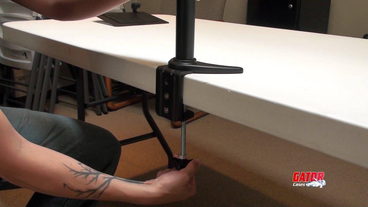 Gator Cases Desk Mount Arm 360 Setup Instructions Youtube