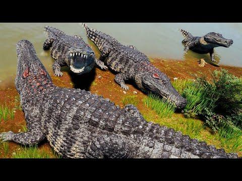 Download Maior Família de Deinosuchus do Planeta! Migração da Manada de Estegossauros | The Isle | (PT/BR)