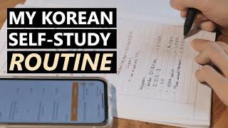 Thói quen tự học và sử dụng tiếng Hàn hàng ngày của mình | My Korean Self-Study Routine | Kira