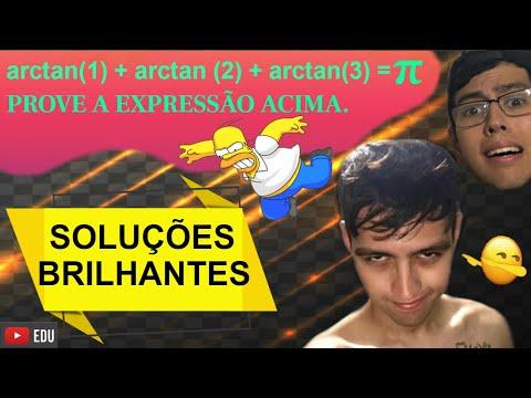 🧨 A IMORTAL TRIGONOMÉTRICA : Arctan(1) + Arctan(2) + Arctan(3) = π .