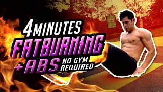 4 min Fat Burning Abs Workout