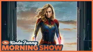 Captain Marvel Trailer Reacts - The Kinda Funny Morning Show 09.18.18