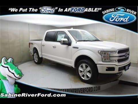 2019 Ford F-150 Platinum FX4 SuperCrew 4x4 Truck White Platinum Metallic #7588