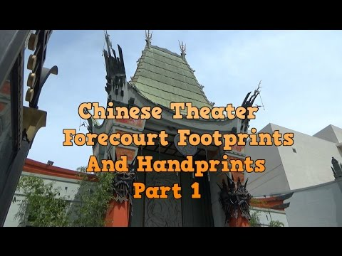 Chinese Theater footprints and handprints Hollywood Blvd California TCL