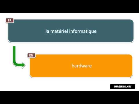 How to Say in French = hardware
