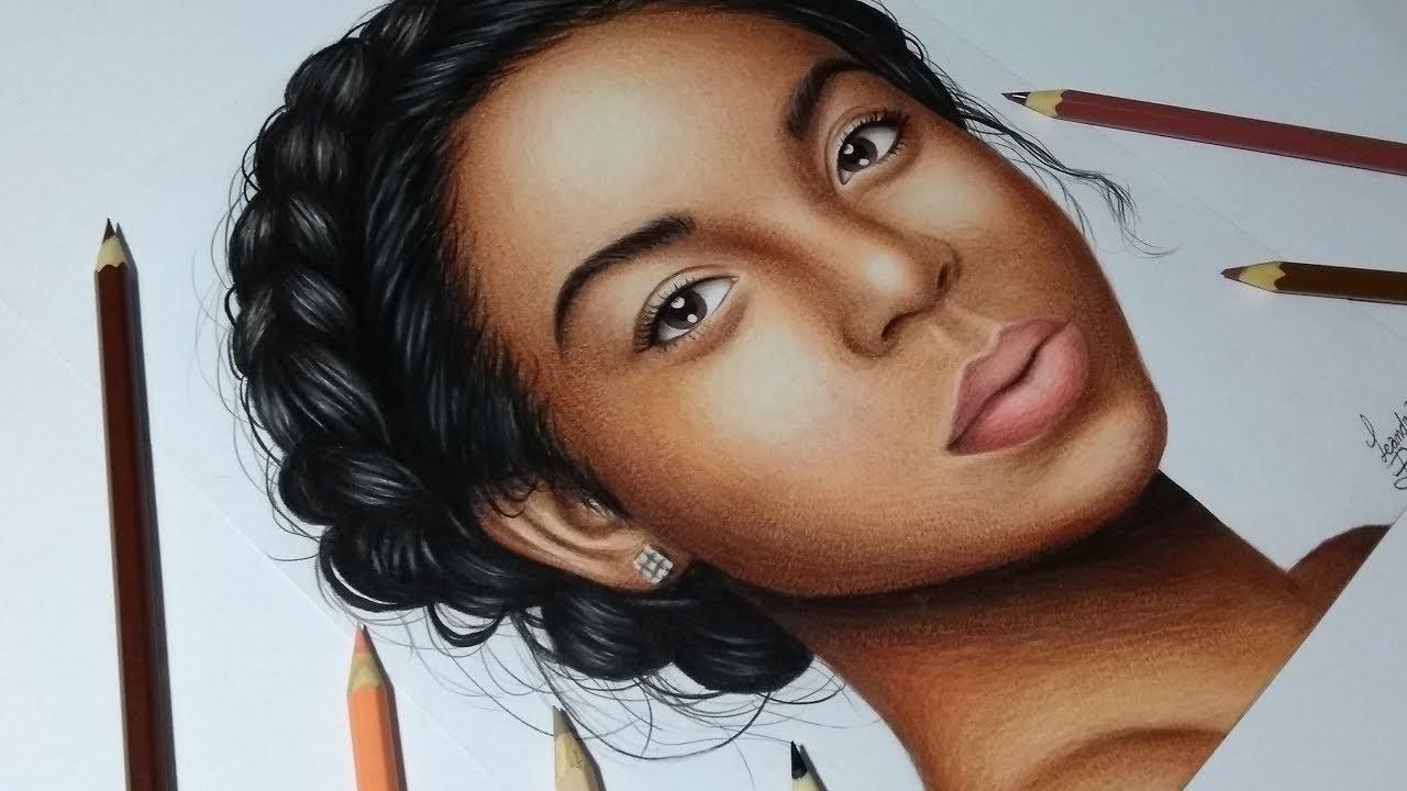 Como Pintar Pele Negra No Desenho Realista Youtube