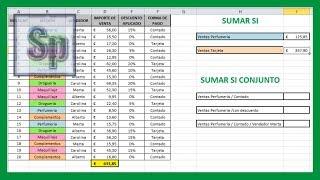 Excel - Sumar si, sumar si conjunto. Sumar utilizando uno o varios criterios. Tutorial en español HD thumbnail