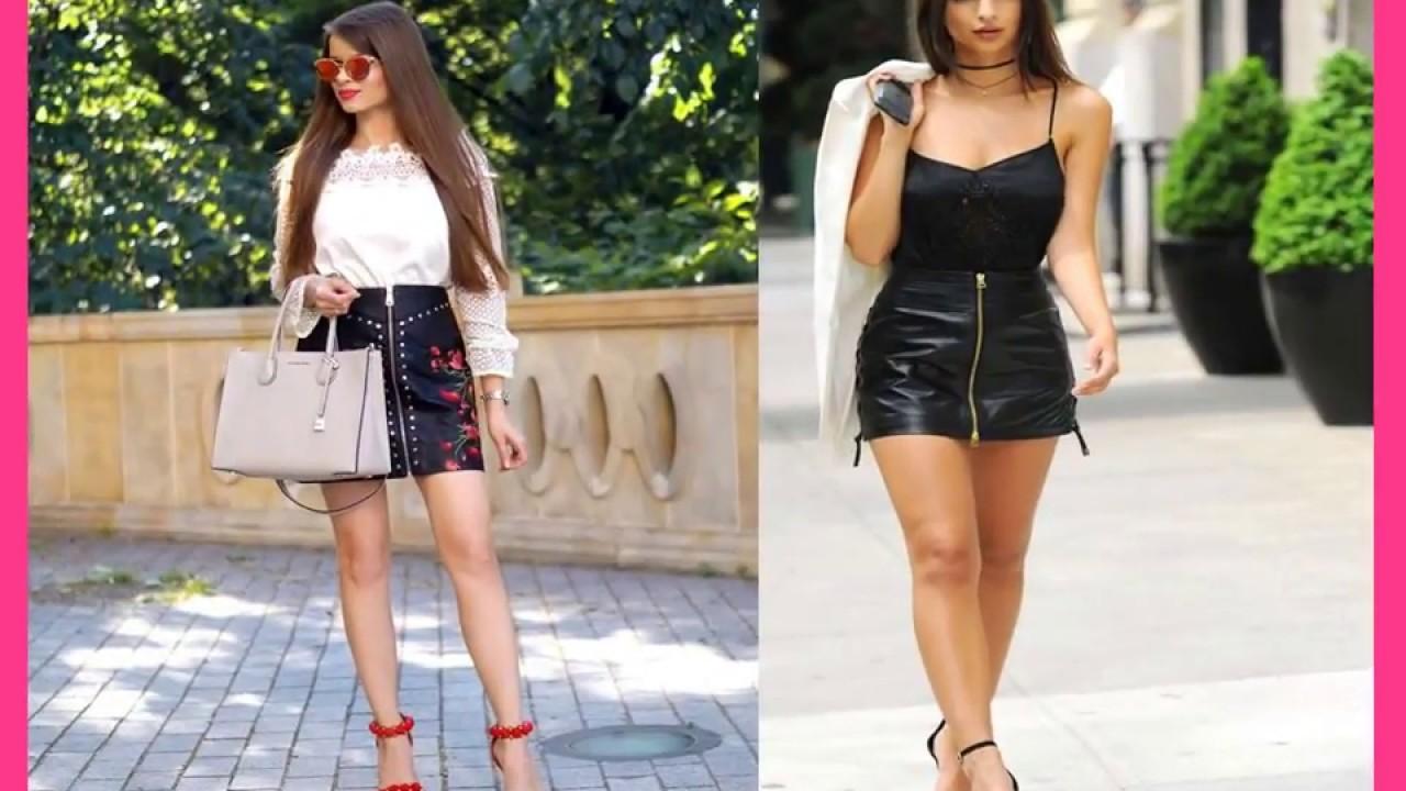 Garantía de calidad 100% incomparable varios estilos OUTFITS DE VERANO falda de cuero NEGRO❤