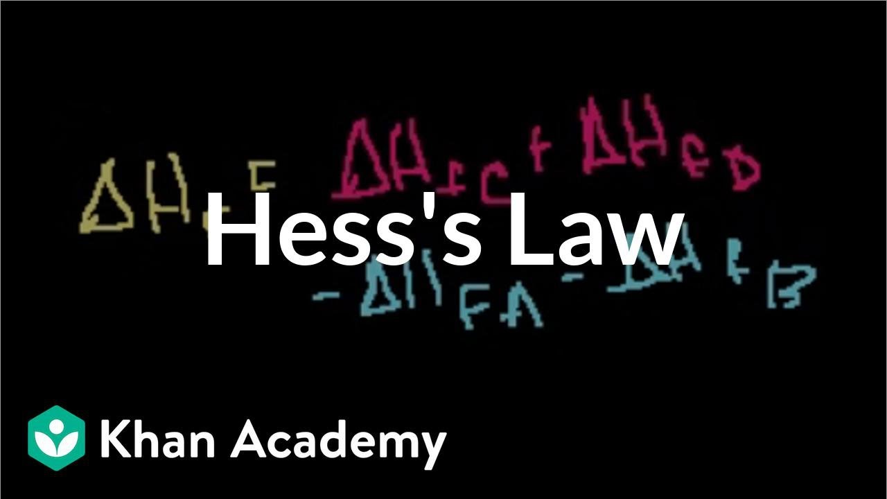 Hess's law and reaction enthalpy change