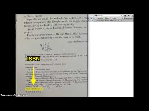 Citing a Book using ISBN