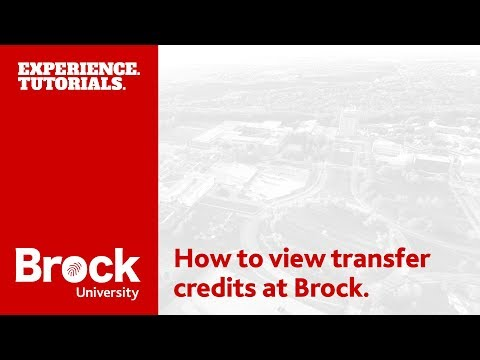 How to view transfer credits at Brock University