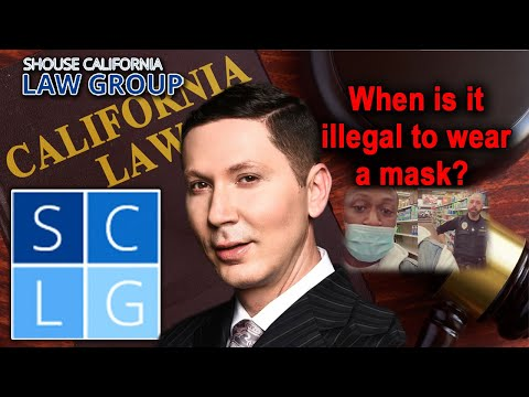 When is it illegal to wear a mask or to disguise yourself in public? (Penal Code 185 PC)