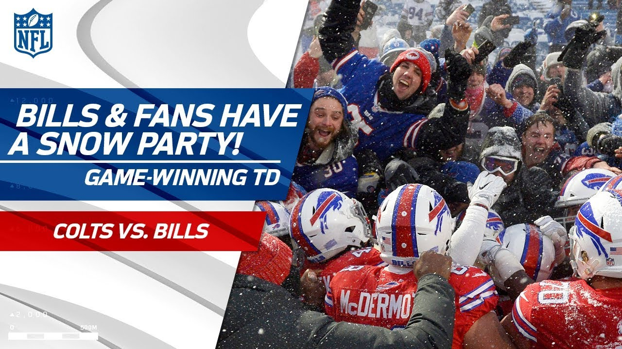 Bills Fans Throw Impromptu Snow Party After Game Winning Td Colts Vs Bills Nfl Highlights Youtube