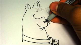 How to draw Scooby-Doo