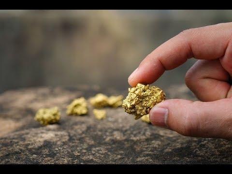Как золото моют в горах