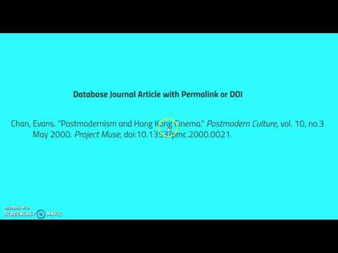 Database Journal Article with a Permalink or DOI