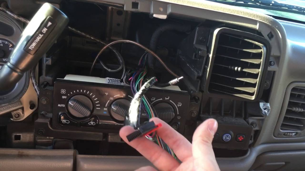 How to install aftermarket stereo with a stock Bose sound system Tahoe, Yukon, Suburban