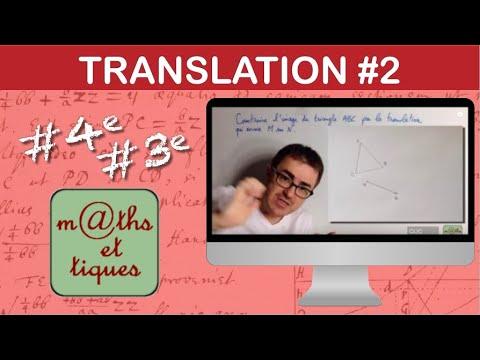 Download Construire l'image d'une figure par une translation (1) - Quatrième/Troisième