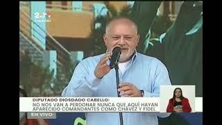 Diosdado Cabello en Tribuna Antiimperialista en apoyo a Cuba, 26 de julio de 2021