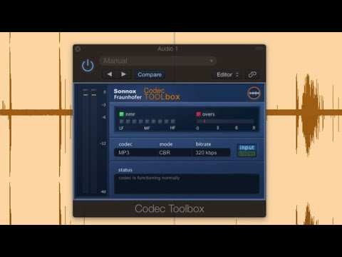 Sonnox Codec Toolbox - How to make Amazing sounding mp3 ready for streaming
