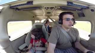 Son's first flight with dad!  4th of July Cessna 172 flight from KMKC to K81 for BBQ!