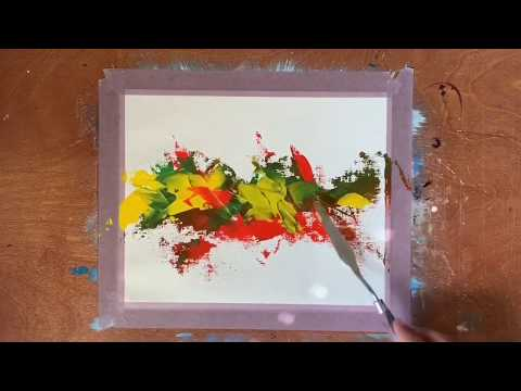 -Abstract Acrylic Painting Demo | Easy For Beginners | DIY Instagram Wall Art | Simple & Satisfying