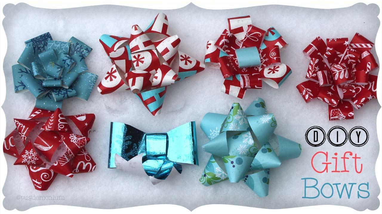 3 Diy Gift Bows Craftmas