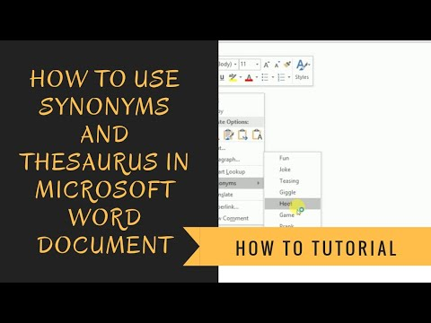 How to Use Synonyms and Thesaurus in Microsoft Word Document