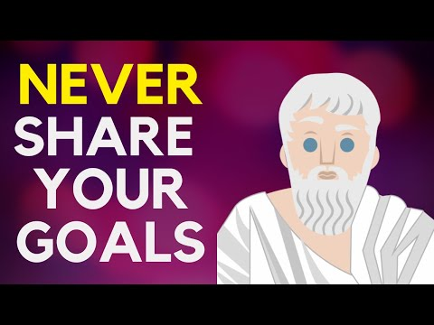 Never Share Your Goals If You Are Serious About Achieving Them