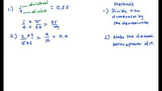 CV03 How to Convert Fractions to Decimals Part 1