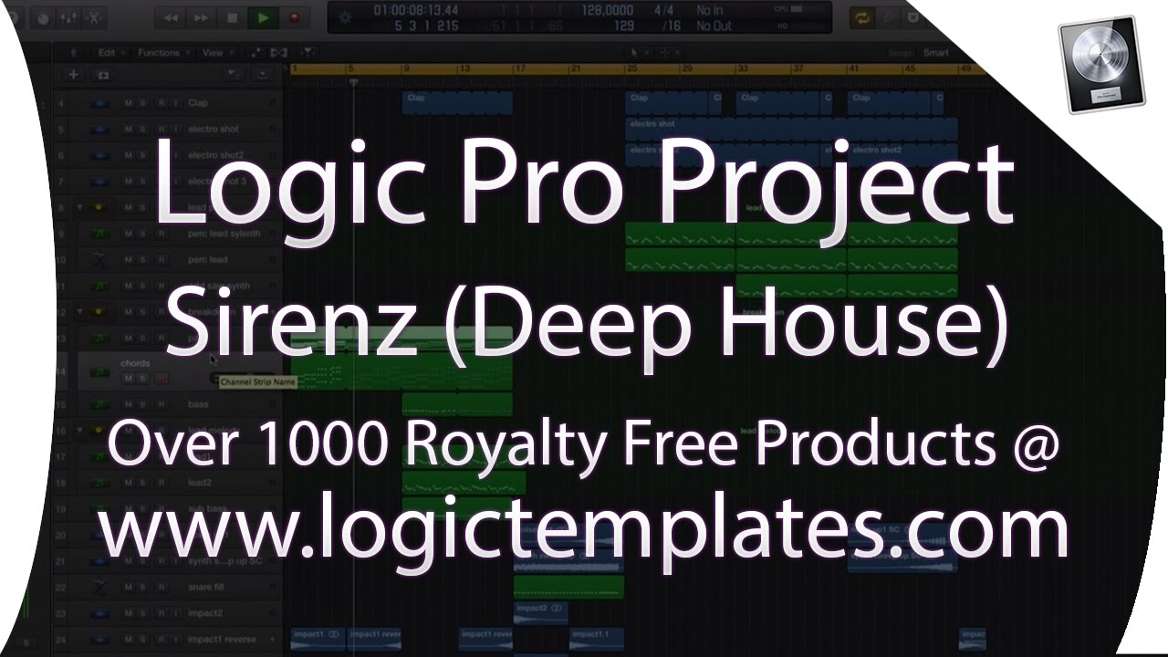 Logic Pro X Deep House MIDI Project - Sirenz By Egas www ...