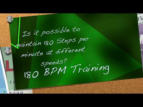 Is it possible to maintain 180 steps per minute at different speeds? 10-22kph