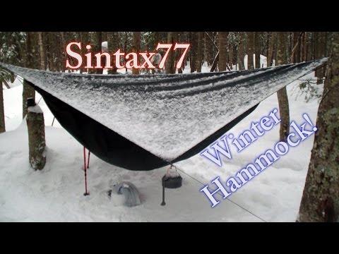 Winter Hammock Camping in the Adirondacks