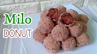 Milo Donut Without Yeast l How to make Milo Donut Recipe l How to Make Donuts At Home Milo