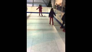 Poppy and Georgina Lawry ice skating Drayton Manor 23.12.15.