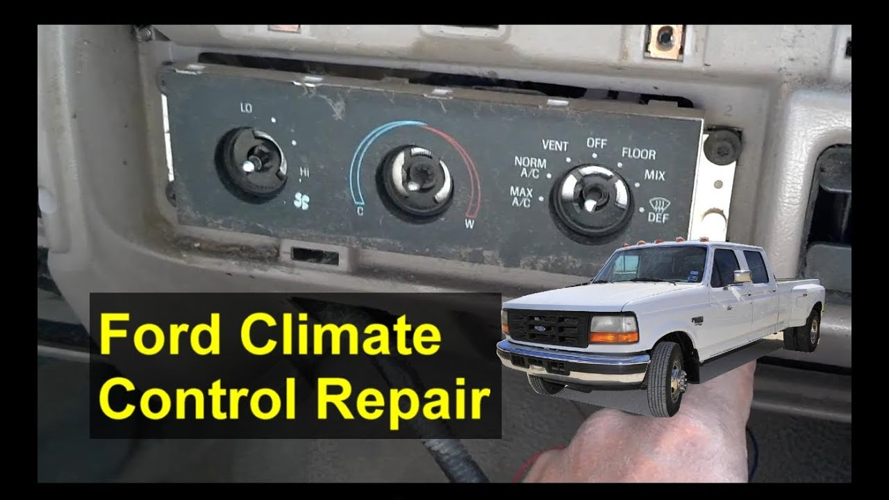 Ford Climate Control Vent Defrost Issues F250 F350 Explorer Etc 1999 E350 Heater Switch Wiring Diagram Auto Repair Series Youtube