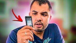 Mini Iphone de 50 Reais Vale a Pena O MENOR CELULAR DO MUNDO