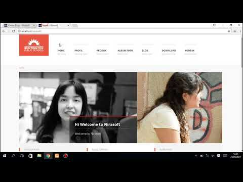 Website Company Profile Menggunakan CodeIgniter 3.x  (Demo Nirasoft)