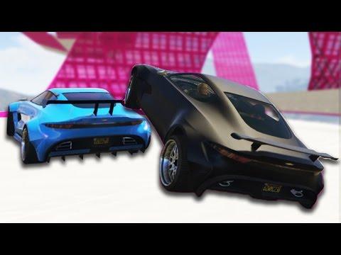 NEW GTA 5 DLC RACE! (SANNA VS LEAH)