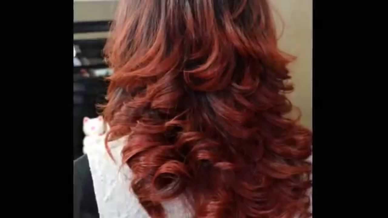 Ombre Hair Copper Red Salonpasto Salonpekanbaru Pekanbaru Indonesia