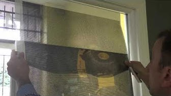 How to install perforated window graphics/vinyl