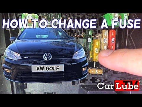 VW Golf Mk7 How too change a fuse / cigarette lighter 12v - YouTube