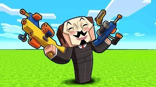 Minecraft - HACKER STARTS A WORLD WAR WITH NERF GUNS!