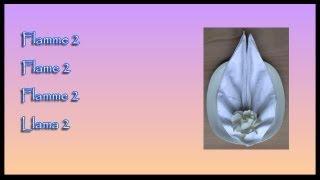 pliages de serviettes napkin folding flamme 2 flame 2 llama 2