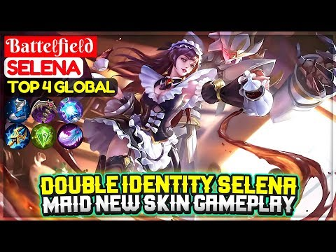 Double Identity Selena, Maid New Skin Gameplay  [ Top Global Selena ] Batteℓfieℓd - Mobile Legends